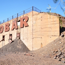 Cobar sign from the side