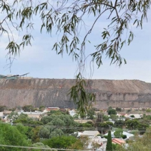 Broken Hill - in the town looking at the mine