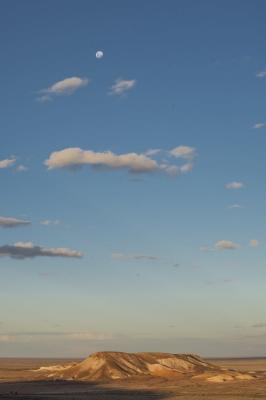 Kanku with big sky and full moon