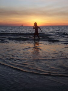 Boy-running-sunset-Darwin