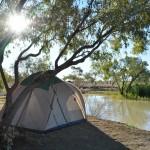 Camping beside Julia Creek