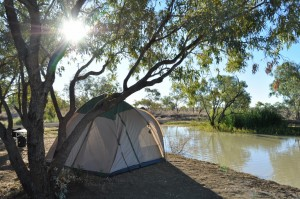 Camping beside Julia Creek