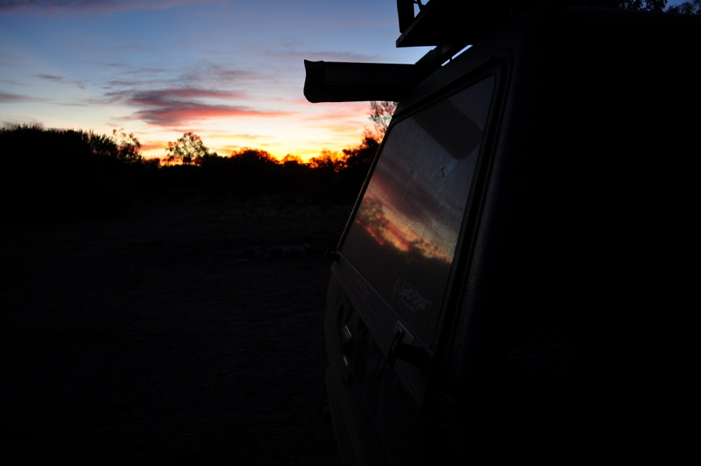 Sunset at the campsite