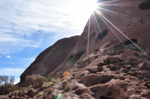 Sunshine on Uluru