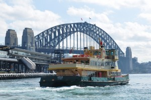 Ferry across Sydney Harbour