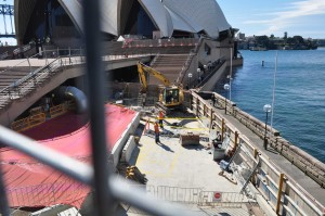 Hoarding around Sydney Opera House