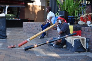 Didgeridoo playing at Circular Quay, Sydney