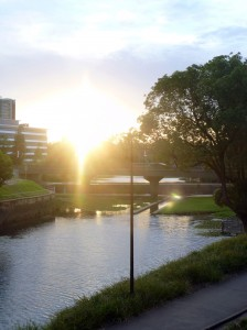 Parramatta River at sunset