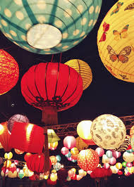 Chinese lanterns portrait