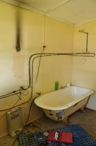 My painted bathroom - with a streak of soot