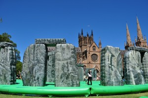 Stonehenge jumping castle