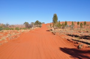 Finke desert rade track - red dust and wide open spaces