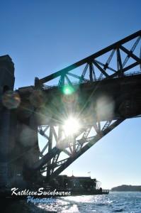 Under the harbour bridge
