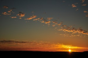 Sunrise at Finke