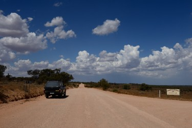 The Triton ute on an outback dirt road