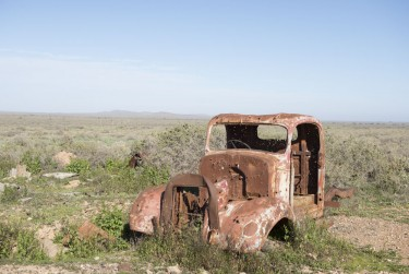Old rusted out truck in the outback