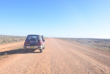 On the dirt leaving Yunta