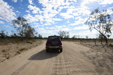 Give way - even in the outback