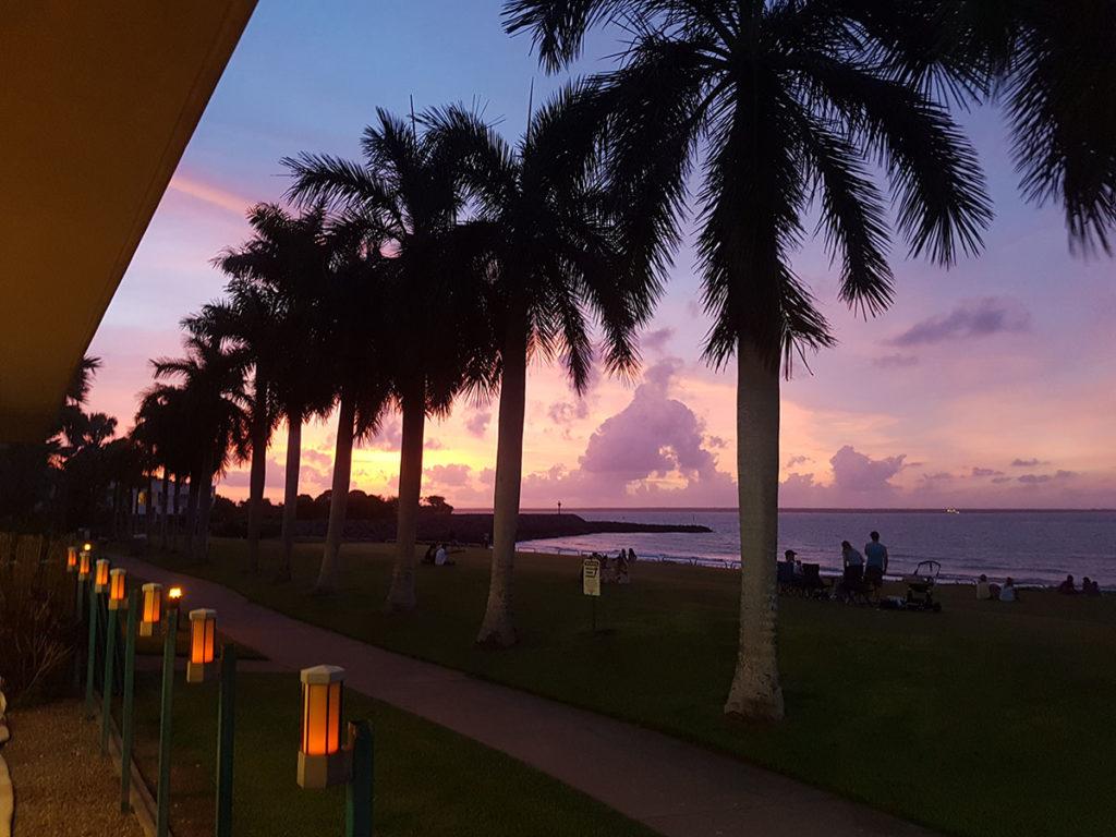 Purple sunset at Cullen Bay Darwin