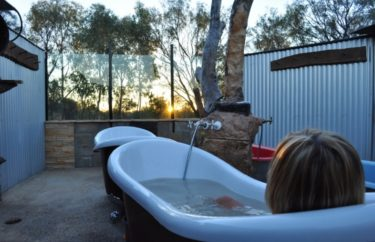 Sunset mudbath at Eulo